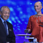 Dr Mahathir Comes Away Impressed After Chat with Robot Sophia