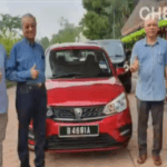 Dr Mahathir takes Sunday drive in new Proton Saga