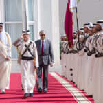 PM Accorded Official Welcoming Ceremony at Qatar's Amiri Diwan