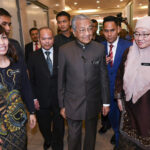Dr Mahathir checks in at Education Ministry